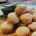 Pao De Quiejo on display from our Brazilian cheese bread recipe